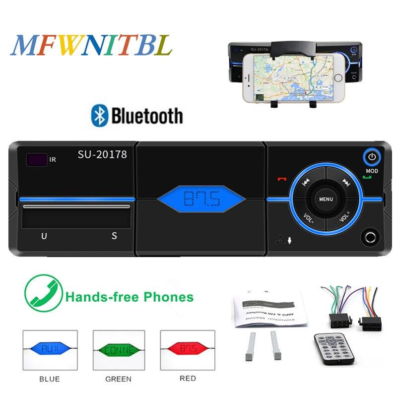 1 Din coche Radio Autoradio Bluetooth coche reproductor de MP3 coche Radio Estéreo FM Control remoto llamadas manos libres USB SD AUX en la carga del teléfono 5 uds 3,5mm conector de clavija de Metal estéreo de 3 polos adaptador de enchufe y Jack 3,5 con terminales de cable de soldadura enchufe estéreo de 3,5mm