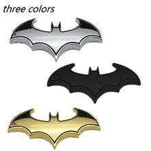 цена на 1Pcs 3D Car Stickers Cool Metal Bat Auto Logo Car Styling Metal Batman Badge Emblem Tail Decal Motorcycle Car Accessories