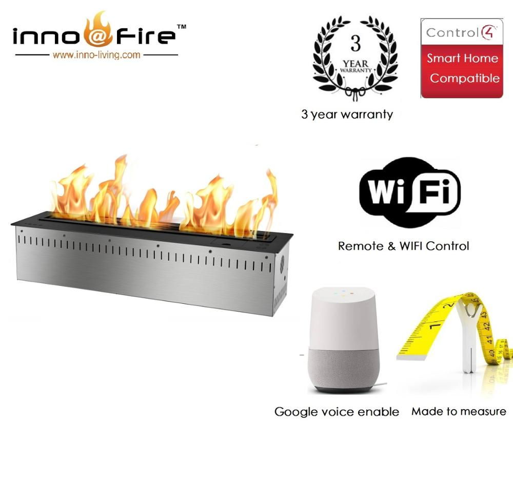 Inno Living Fire 36 Inch Linear Electric Fireplace Bioethanol Wifi Control