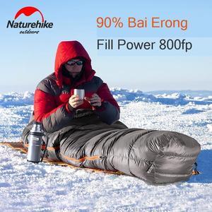 Image 4 - Naturehike 2019 Winter Gans Unten Mummy Warm Halten Schlafsack Einschränkung Komfort Temperatur 32℃ 4℃ ULG400 ULG700 ULG1000