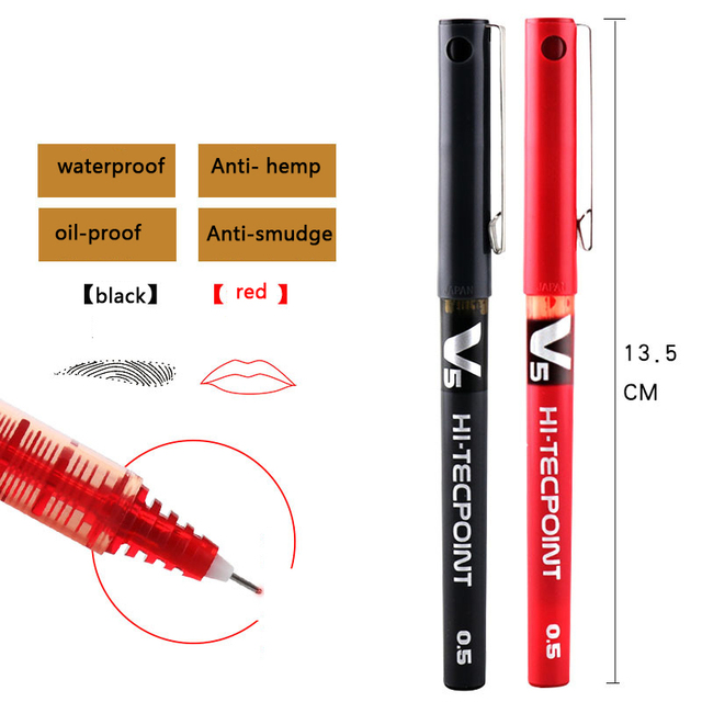 Tattooing Waterproof permanent Tattoo Marker Pen 0.5MM Sterile Surgical Skin Microblading Eyebrow Lip Positioning Tattoo pen 5