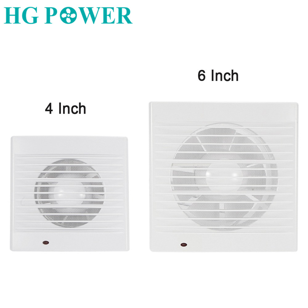 4/6inch Low Noise Exhaust Fan Home Bathroom Kitchen Bedroom Toilet Ventilator Fan Hotel Wall Silent Extractor Pipe Ceiling Fan