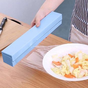 1Pcs Cling Film Cutter Food Dispenser Wrap Kitchen Preservative Storage Kitchen Accessories Holder Plastic Foil Household NEW
