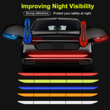 5pcs/set Car Reflectante Reflector Sticker 91*4 Car Body Trunk Exterior Auto Accessories Reflective Tape Reflex Exterior Warning