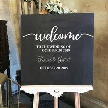 Custom name wedding self adhesive vinyl wall art decal for hall