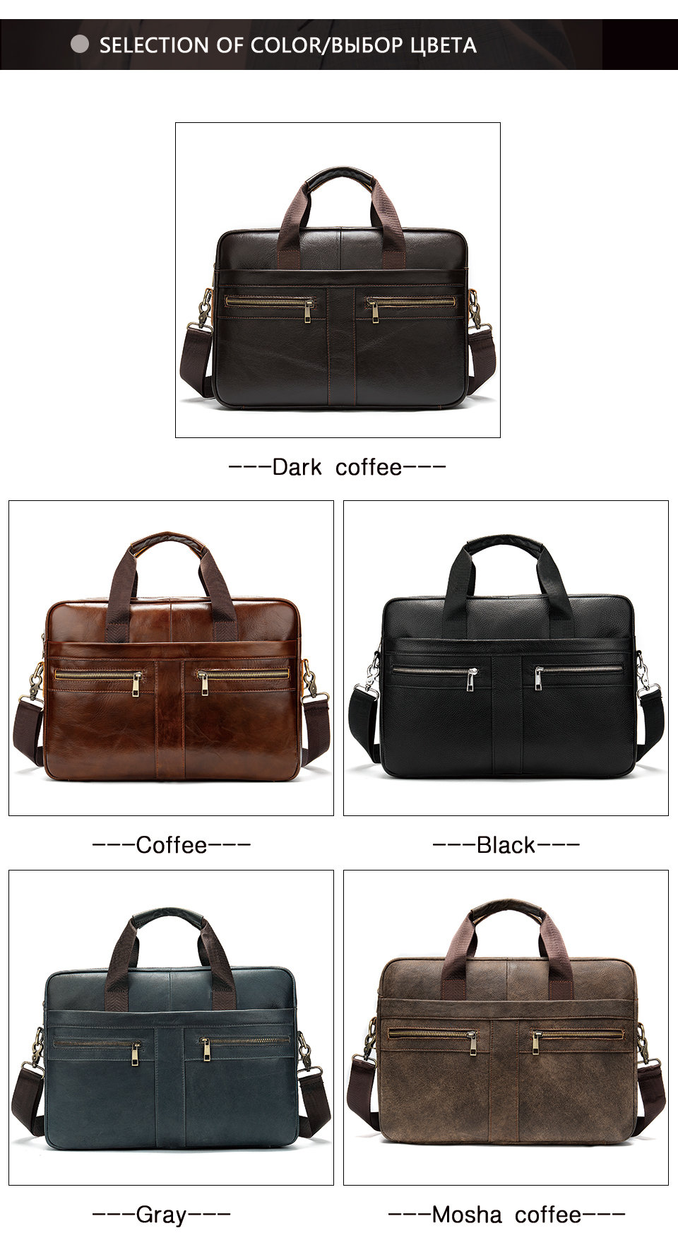 Ha5bb814d9cf84ff9bb9de43c7c4841aav WESTAL Bag men's Genuine Leather briefcase Male man laptop bag natural Leather for men Messenger bags men's briefcases 2019