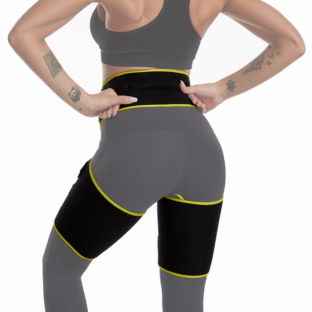 Sweat Thigh Leg Slender Toned Muscles Band Wraps Slimming Belt Shapewear Corset Thigh Slimmer Tone Legs Strap