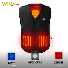 Winter Hiking Vests with Heating Function Men Women Usb Heated Outdoor for Hunting Camping Cycling Electrical Vest