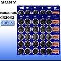 50 шт./лот sony CR2032 3 в 100% оригинальная литиевая батарея для часов пульт дистанционного управления калькулятор CR2032 Кнопочная батарея монетные б...