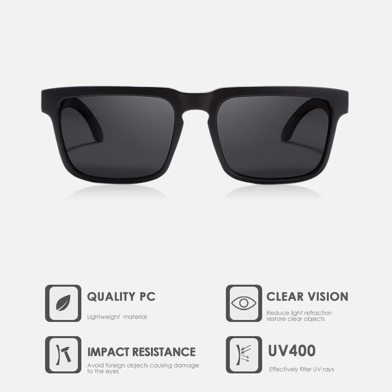 KDEAM New Updated Polarized Men's Sunglasses Real Coating Mirror Lens Couple's Sun Glasses with Tank Hinges 2501-PRO