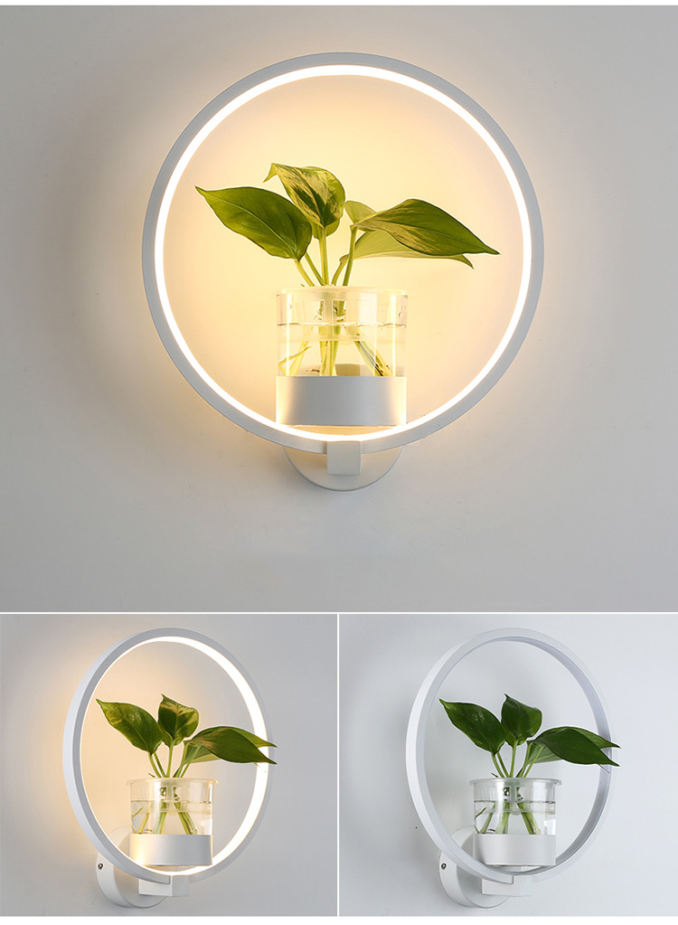 Planter Wall Lamp For Home Decoration Free Shipping