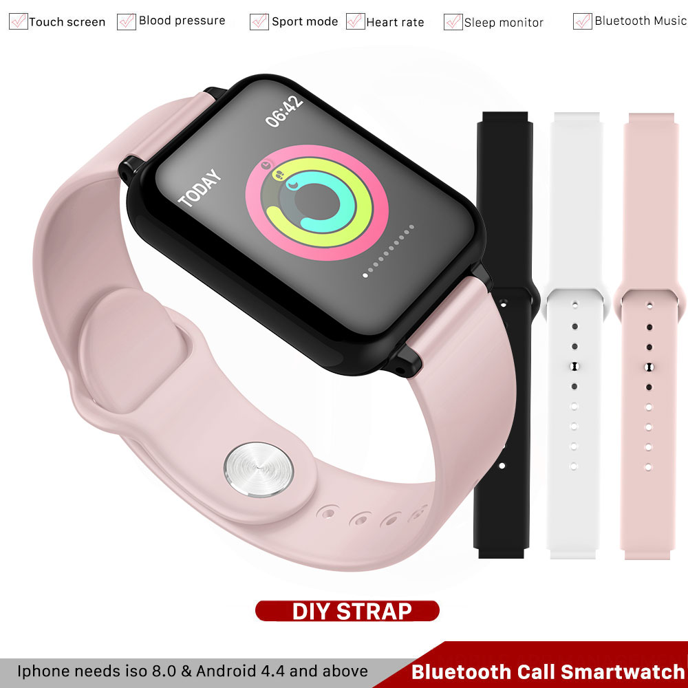 B57 IP67 Waterproof Smart Watch Cardiac Monitoring Multiple Sport Model Fitness Tracker Smartwatch For Iphone Phone PK Watch4,A1