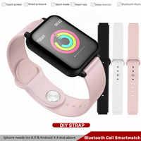 B57 ip67 à prova dip67 água relógio inteligente monitor cardíaco múltiplo esporte modelo de fitness rastreador smartwatch para o telefone iphone pk watch4, a1