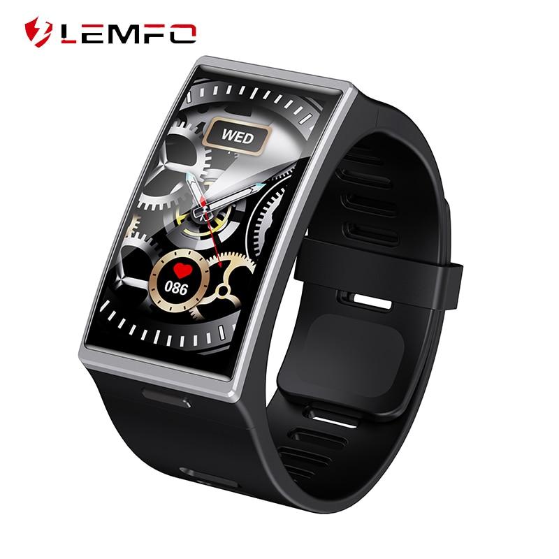 LEMFO-reloj inteligente DM12 para hombre, dispositivo resistente al agua IP68, con pantalla curva 2.5D de 1,91 pulgadas y control del ritmo cardíaco, BT5.0