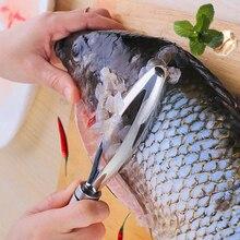 Приборы для морских продуктов рыбьей чешуи удаления кожи Нержавеющая сталь Овощечистка, рыбочистка щетка Кухонные принадлежности