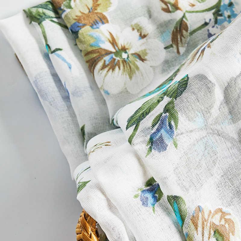 Tende corte floreali CDIY per tende da cucina in Voile per soggiorno camera da letto moderna tende trasparenti tende per finestre tende per porte