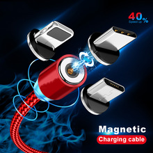 Cable-Lighting Magnet-Charger Phone-Cable Type-C Samsung USB for Xs 1M Wire Braided