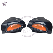 Dark Blue Motorcycle Rear View Mirrors Amber Turn Signals Cover Case for BMW R1100RT R1100RTP R1150RT