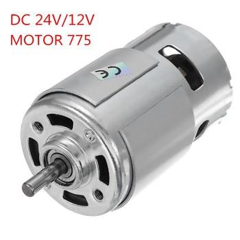 DC 24 V/12 V 15000 obr./min szybki duży moment obrotowy DC 775 silnik elektryczny elektronarzędzie nowe silniki i części silnik prądu stałego