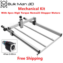 High precise LEAD CNC Router Machine Mechanical kit with 4pcs High Torque 2.45N.m Nema23 Stepper Motors