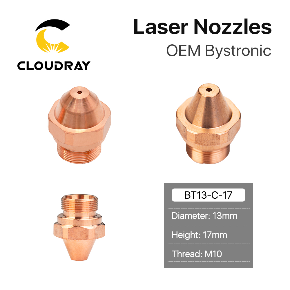 Cloudray OEM Bystronic H Series Laser Nozzles Dia.13mm Single Layer M10 Caliber 0.8-3mm For Fiber Laser Cutting Head
