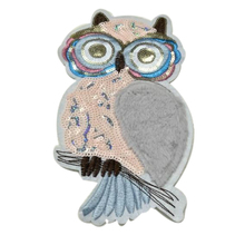 Fashion Clothes Women Diy Biker Patch Street culture Icon 230mm Owl Plush Deal with it Sequins animal patches for clothing Girl