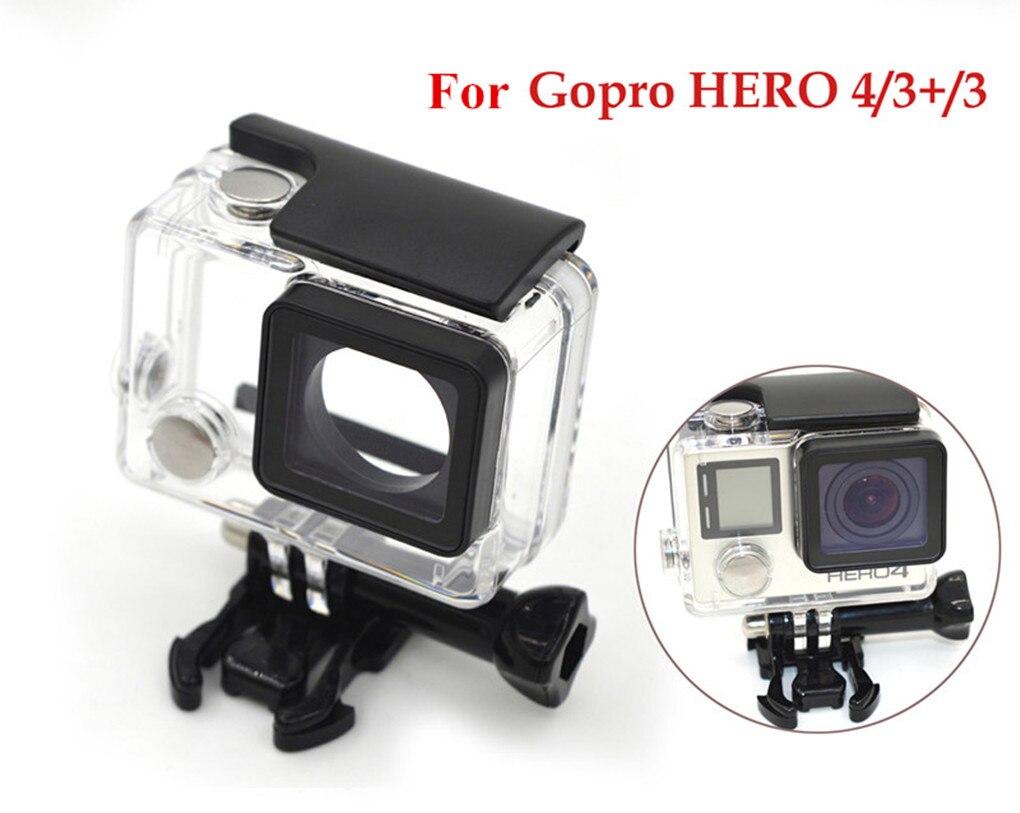 Câmera de ação à prova dwaterproof água caso mergulho caixa habitação para gopro hero 4 3 3 + subaquática caso protetor para gopro hero 3 3 esporte cam