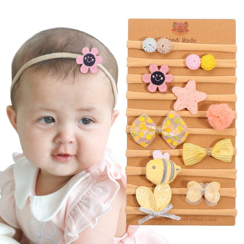Baby Headband Elastic Harrband Infant Princess Cartoon Bee Headdress Kids Girl Turban Headwear Hair Accessories Yellow Series