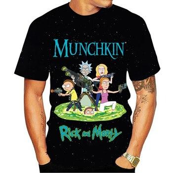 Rick and Morty T-shirts Casual T-shirts Men's T-shirts 3D tops and fun T-shirts short-sleeved shirts Ladies Harajuku T-shirt t 200y