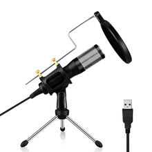 USB Microphone Plug & Play Condenser 2 Meters For PC/Computer Podcasting One Line Meeting Self StudioRecording