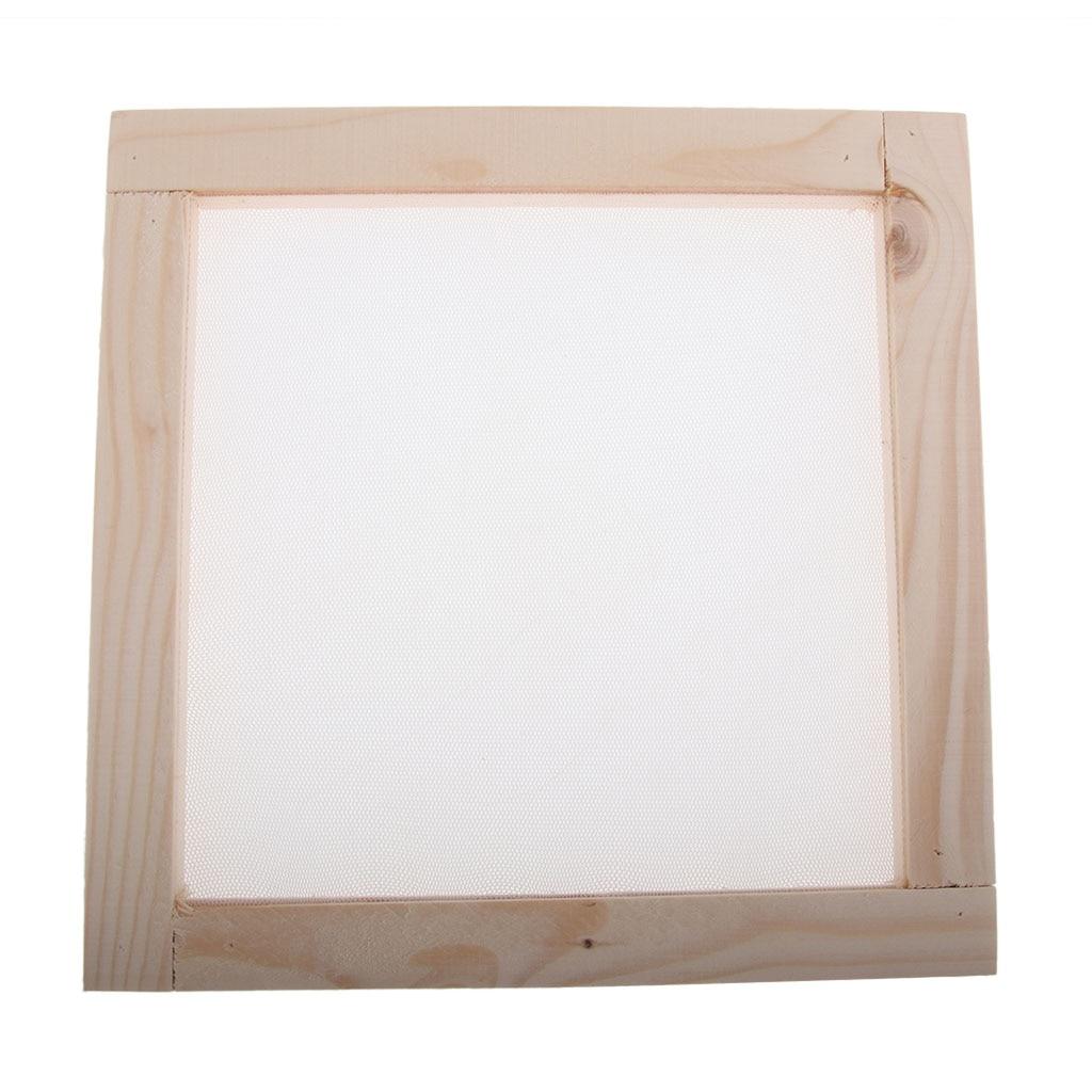 Marco de madera para fabricación de papel, molde para fabricación de papel, marco de molde Rectangular con malla semitransparente para manualidades DIY