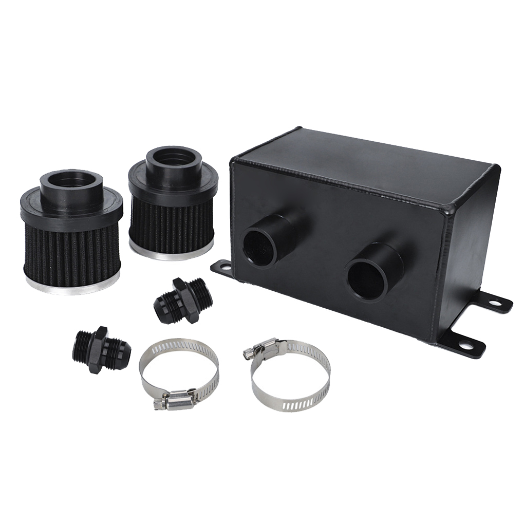 1.2L réservoir de capture d'huile de voiture peut réservoir double Ports filtre à Air voiture Modification accessoires Auto
