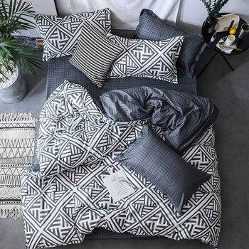 Novo padrão geométrico moderno conjunto de cama capa edredão conjunto fronha au ue eua gêmeo rainha rei tamanho seet 3pcs frete grátis