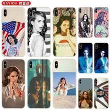 Caso para iPhone 12 11 Pro X XS X Max XR 6 7 8 G Plus 2020 5 S Cubierta de Lana Del Rey