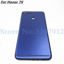 Für Huawei Honor 7X Ersatzteile Zurück Batterie Abdeckung Tür Gehäuse + Seite Tasten + Kamera Objektiv Ersatz Freies verschiffen