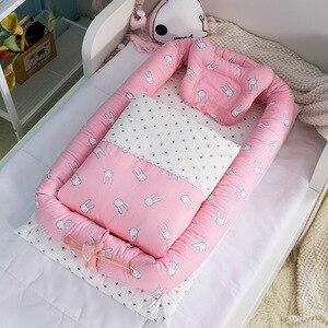 2019 хлопок детское гнездо кроватка-колыбель кроватка туристическая детская кроватка кровать для новорожденных переносная люлька детская м...