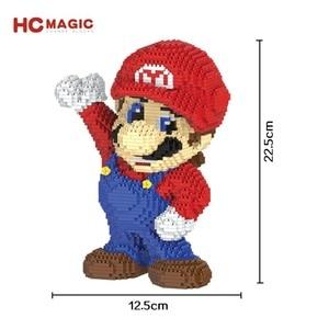 Image 4 - Hc blocos mágicos do mario, jogo popular japonês, personagem, tijolos educativos de construção, modelo yoshi, brinquedos para crianças, brinquedos 9020