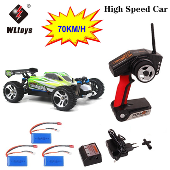 цена на 70km/h RC Car WLtoys A959 A959-B 2.4G 1/18 Scale Remote Control Off-road Racing Car High Speed Stunt SUV Toy Gift RC Mini Car