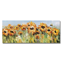 Sunflower Painting knife painting oil painting, abstract on canvas 100% manual art modern art living room wall decoration