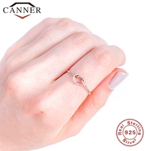 925 sterling silver Simple Heart-shape Wedding Rings for Women Gold Silver color love knotted Ring Fashion Wedding Band Jewelry vnox three tone mix color rings for women love hope faith wedding band ring