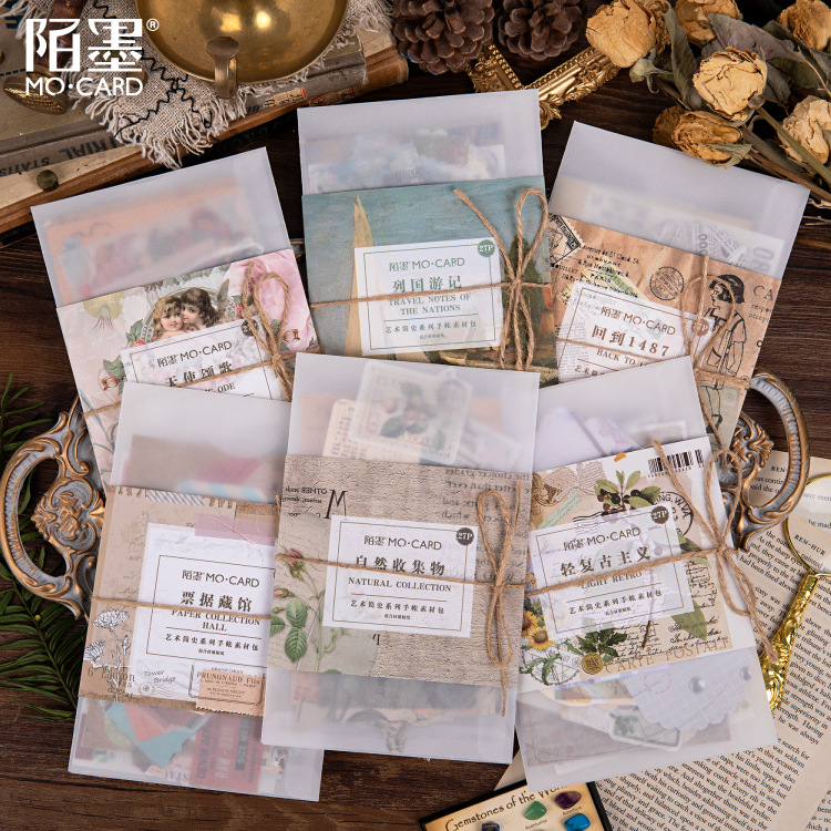 27 pcs/pack Retro Floriography Bulleto Journal Decorative Stickers Adhesive DIY Decoration Diary Pla