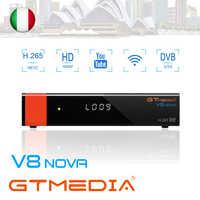 GTmedia V8 nova DVB-S2 Satellite Receiver TV Decoder Built-in WiFi 1080P Full HD with 2 Year 5 cline same as V9 SUPER receptor