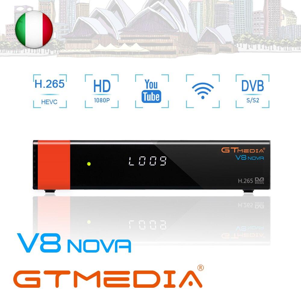 Gtmedia v8 nova DVB-S2 receptor de satélite tv decodificador wi-fi embutido 1080 p hd completo com 2 ano 5 cline mesmo que v9 super receptor