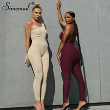 Simenual jedno ramię Fitness Casual pajacyki kombinezon damski bez rękawów sportowa odzież sportowa w stylu Basic Slim kombinezony moda Push Up