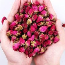 Novo natural secado rosa rosa botões flor de alta qualidade orgânica rosa botões 100g/300g/500 g/pacote menina feminino presente decoração casamento