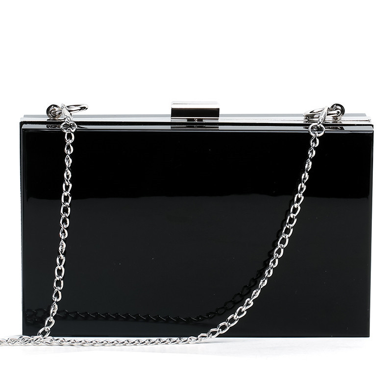 Image 3 - Transparent Acrylic Bags Clear Clutch Purses Box Women Shoulder Bags Day Clutches Bags Wedding Party Evening Clutches HandbagsClutches   -