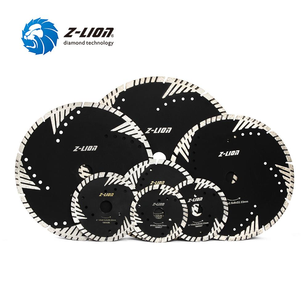 Z-LION 1PC 105/115/125/150/180/200/230/250/300mm Diamond Saw Blade Granite Marble Concrete Cutting Disc With Protection Teeth