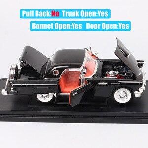 Image 3 - 1/18 yol imza büyük ölçekli 1957 FORD THUNDERBIRD vintage Diecasts ve araçlar T kuş modeli oyuncak thumbnails için erkek hediye