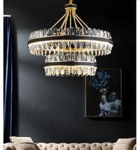 Modern Decorative Luxury Living Room Crystal Pendant Lamp D50cm LED Nordic Creative Restaurant Chandelier Bedroom Hanging lamps