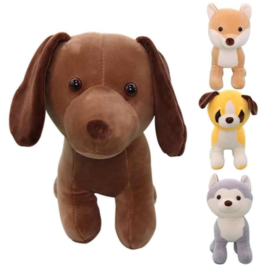 25 سنتيمتر لعبة كلب قطيفة محشوة الكرتون جرو الحيوانات الأليفة لينة محشوة الاطفال الأطفال هدية عيد ميلاد المنزل متجر ديكور 2019